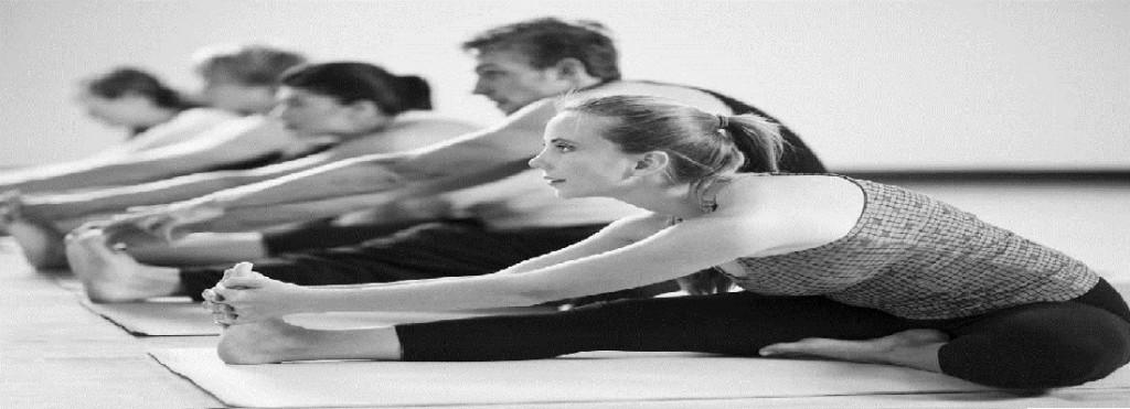 girl in a yoga class