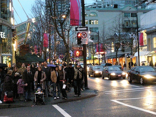 Robson Street Vancouver's main consumer street