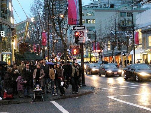 Robson Street Vancouver's main consumer street