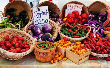 Fresh organic foods