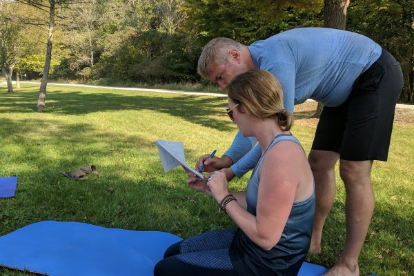 Outside yoga teacher training
