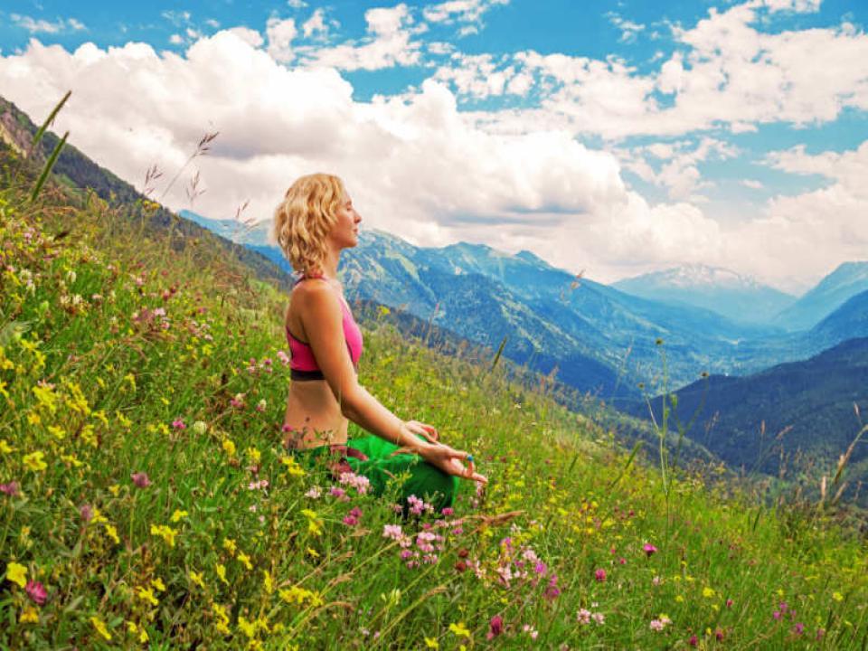 lady meditating for enlightenment