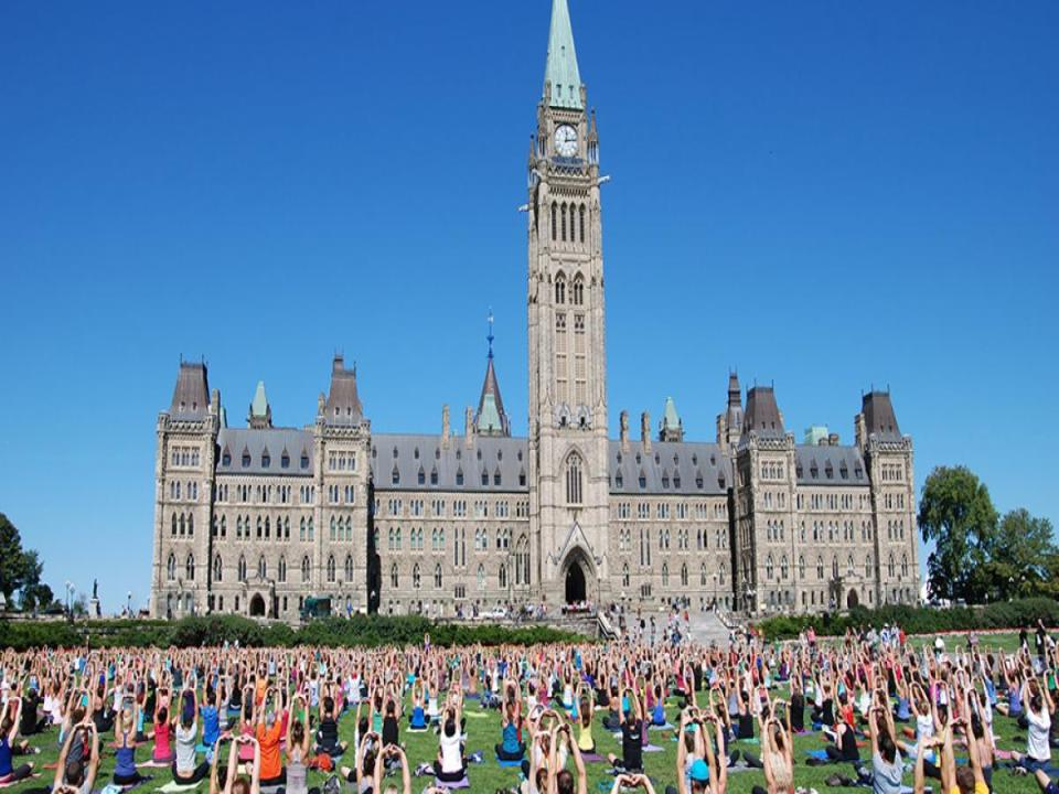yoga on parliment hill